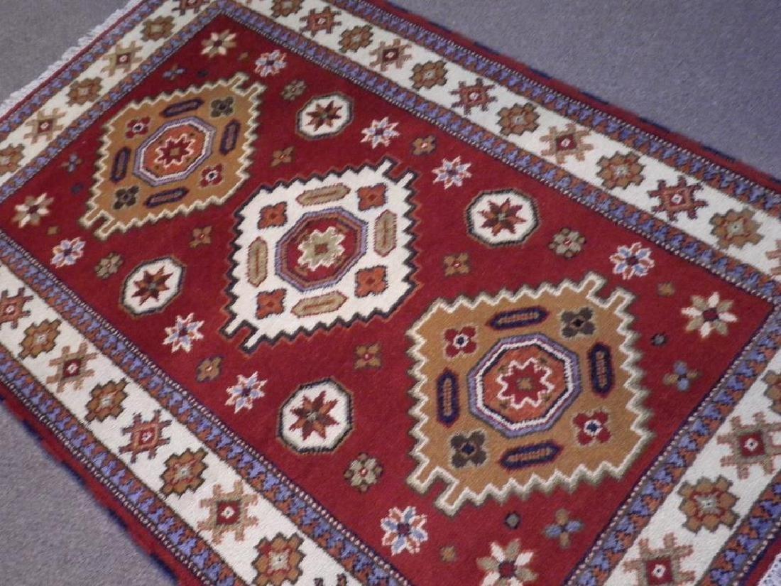 Collectible Handmade Kazak Design 3.11x5.11 - 2