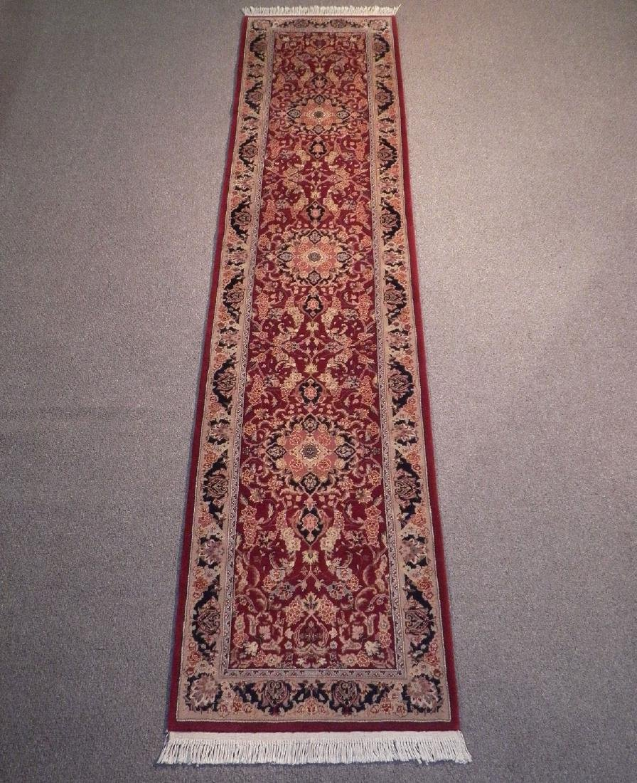 Attractive Wool/Silk Kashan Design Runner 2.3x10