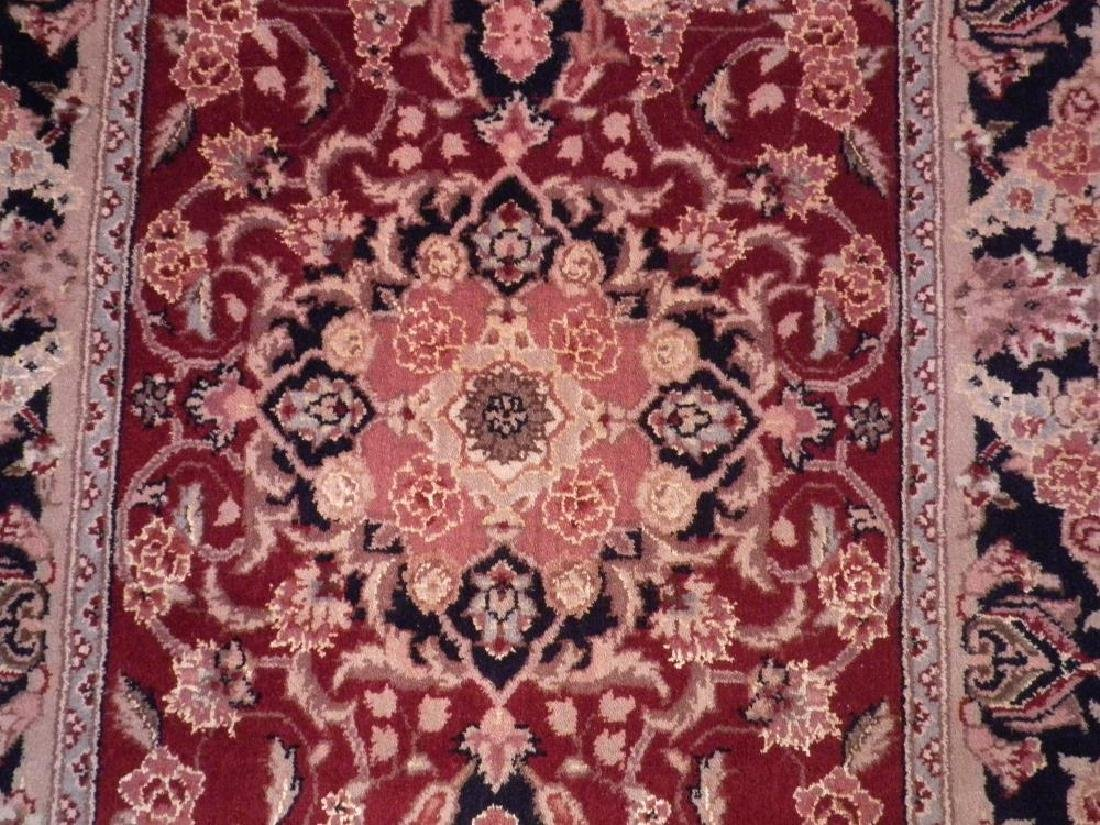 Attractive Wool/Silk Kashan Design Runner 2.3x10 - 4