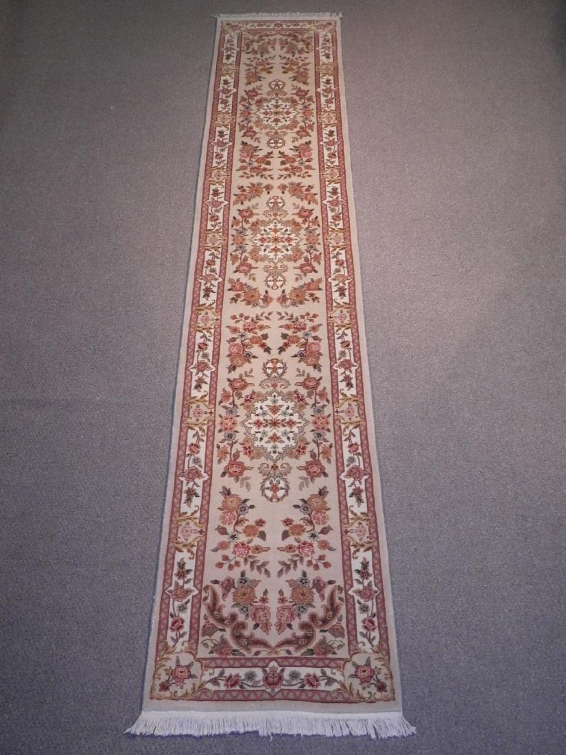 Simply Beautiful Wool/Silk Kashan Design 2.3x11.8