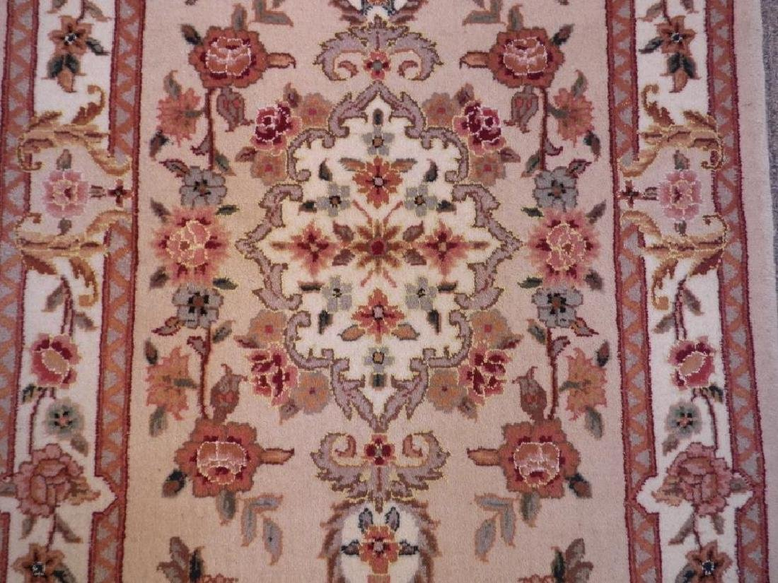 Simply Beautiful Wool/Silk Kashan Design 2.3x11.8 - 4