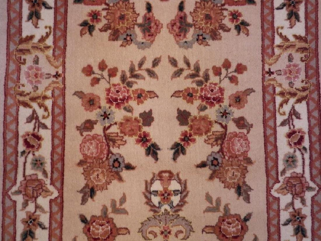 Simply Beautiful Wool/Silk Kashan Design 2.3x11.8 - 5
