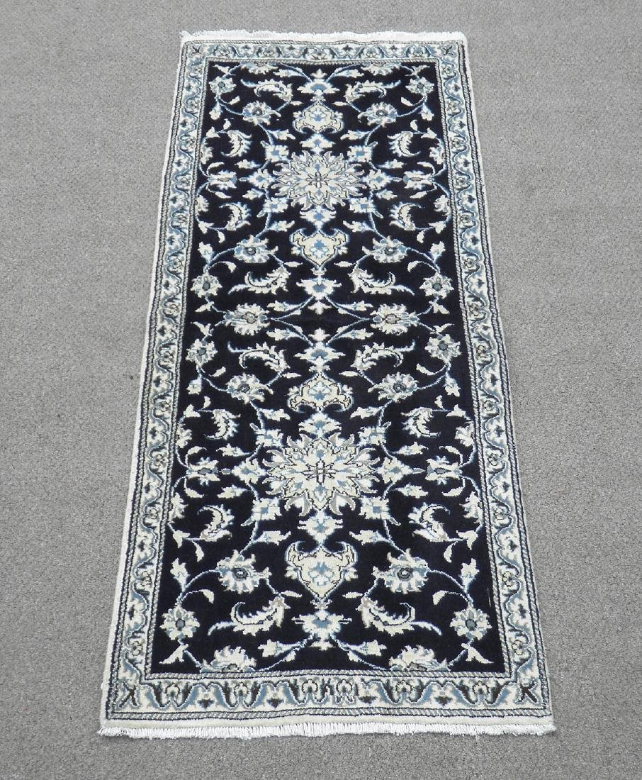 Handmade Persian Nain 6.4x2.6
