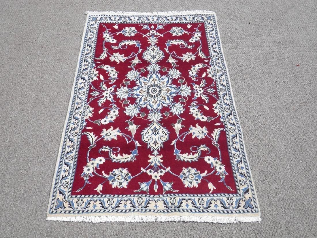 Fascinatin Handmade Wool/Silk Persian Nain 4.5x2.10