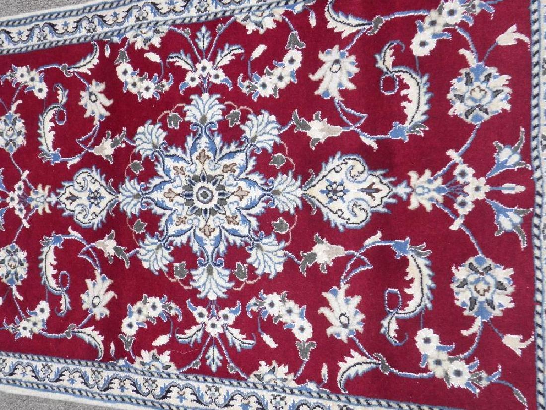 Fascinatin Handmade Wool/Silk Persian Nain 4.5x2.10 - 2
