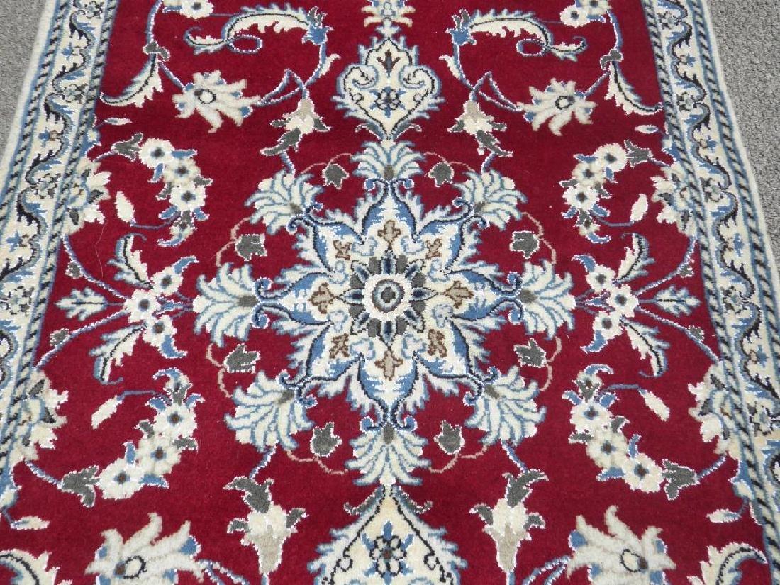 Fascinatin Handmade Wool/Silk Persian Nain 4.5x2.10 - 3