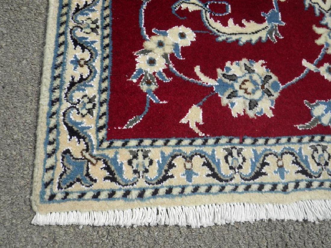 Fascinatin Handmade Wool/Silk Persian Nain 4.5x2.10 - 4