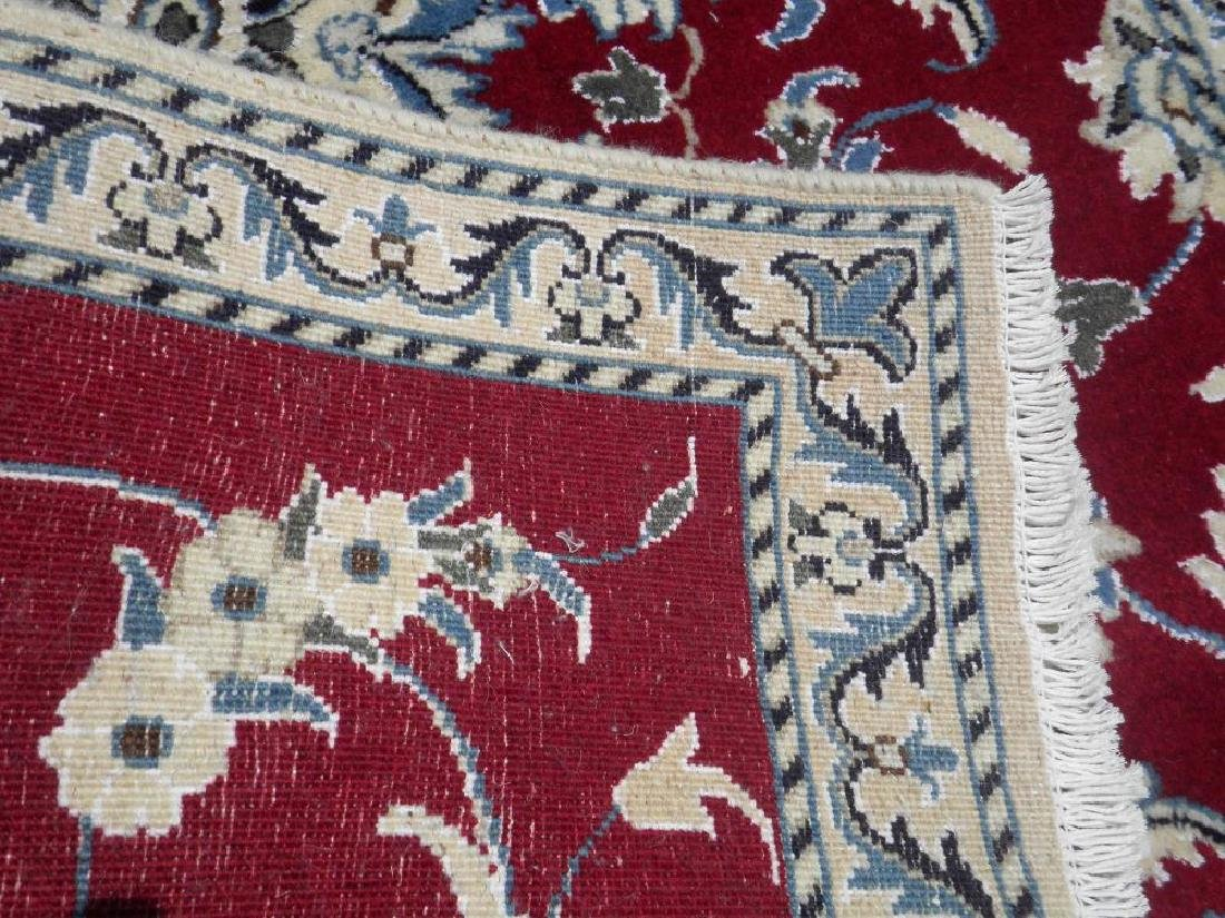 Fascinatin Handmade Wool/Silk Persian Nain 4.5x2.10 - 5
