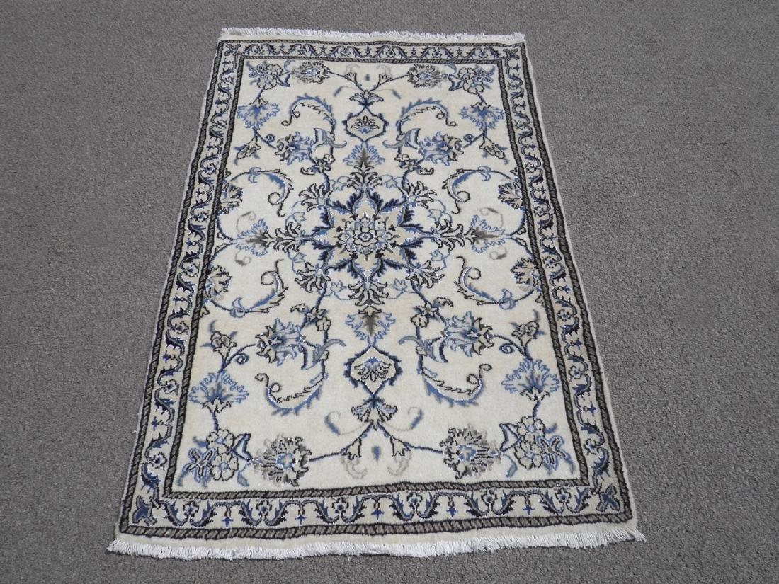 Charming Handmade Wool/Silk Persian Nain 4.7x.2.10