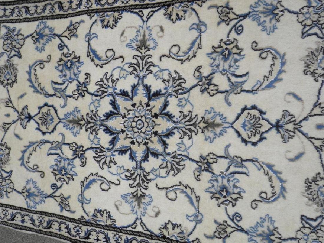 Charming Handmade Wool/Silk Persian Nain 4.7x.2.10 - 2