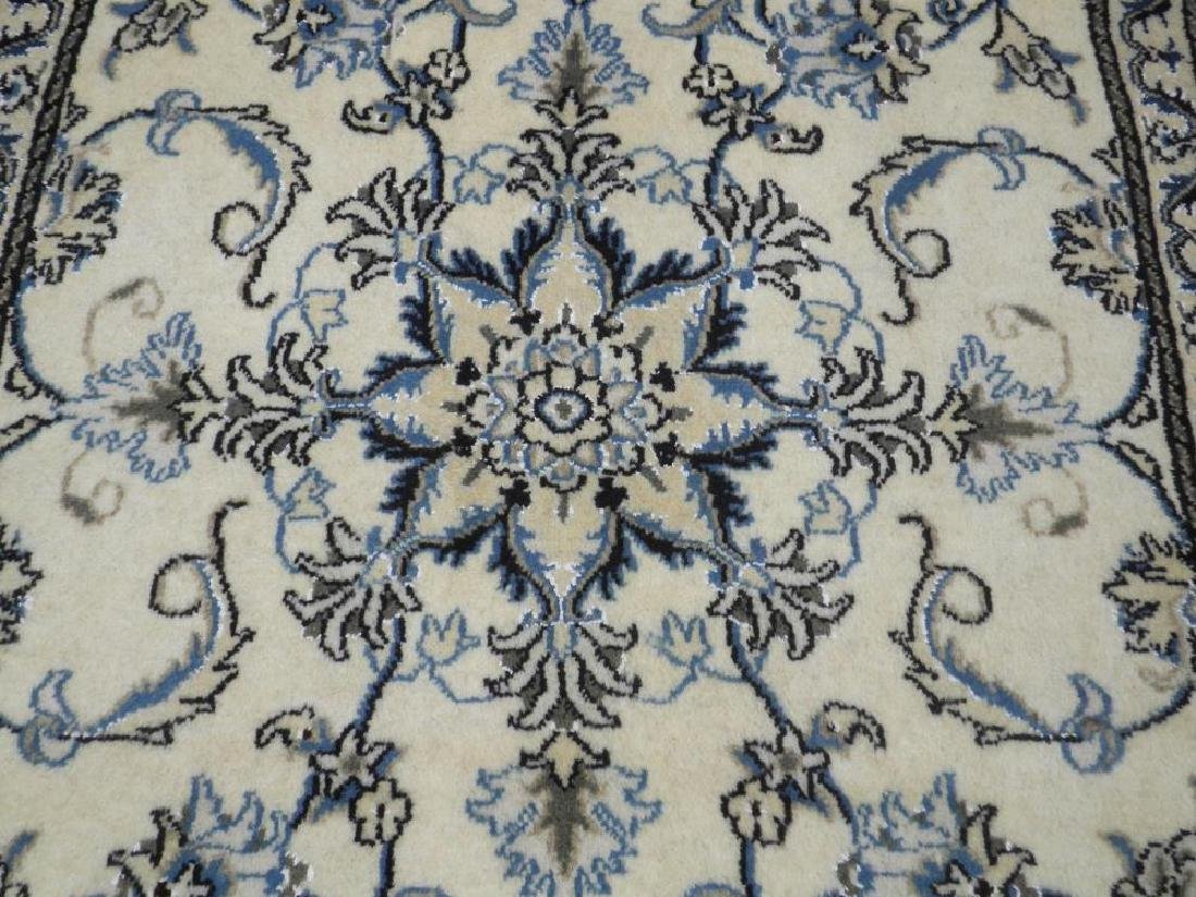 Charming Handmade Wool/Silk Persian Nain 4.7x.2.10 - 3
