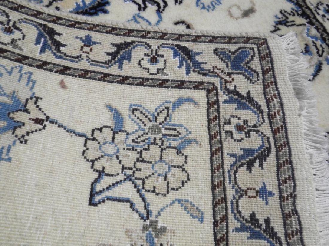 Charming Handmade Wool/Silk Persian Nain 4.7x.2.10 - 5