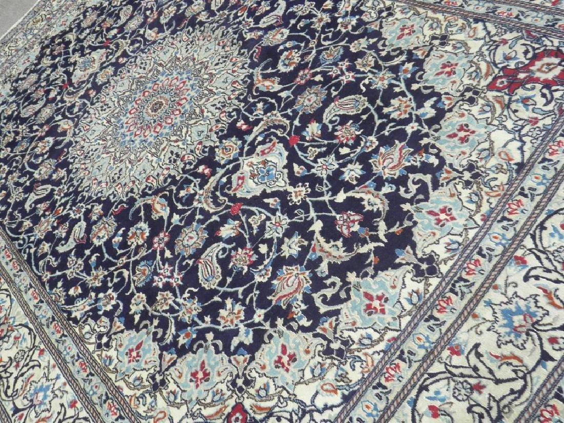 Authentic Semi Antique Wool/Silk Persian Nain 11.5x8.0 - 2