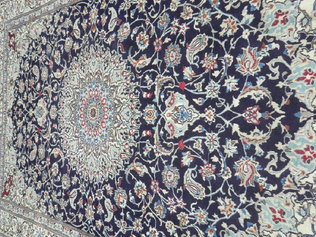 Authentic Semi Antique Wool/Silk Persian Nain 11.5x8.0 - 3