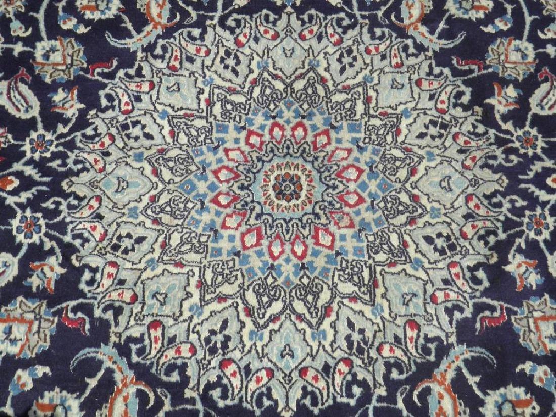 Authentic Semi Antique Wool/Silk Persian Nain 11.5x8.0 - 4