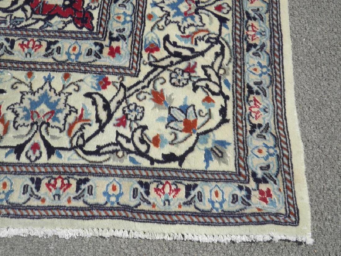 Authentic Semi Antique Wool/Silk Persian Nain 11.5x8.0 - 5