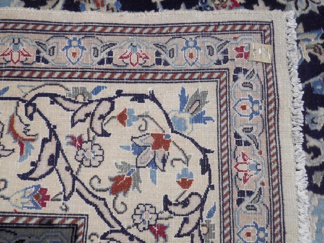 Authentic Semi Antique Wool/Silk Persian Nain 11.5x8.0 - 6