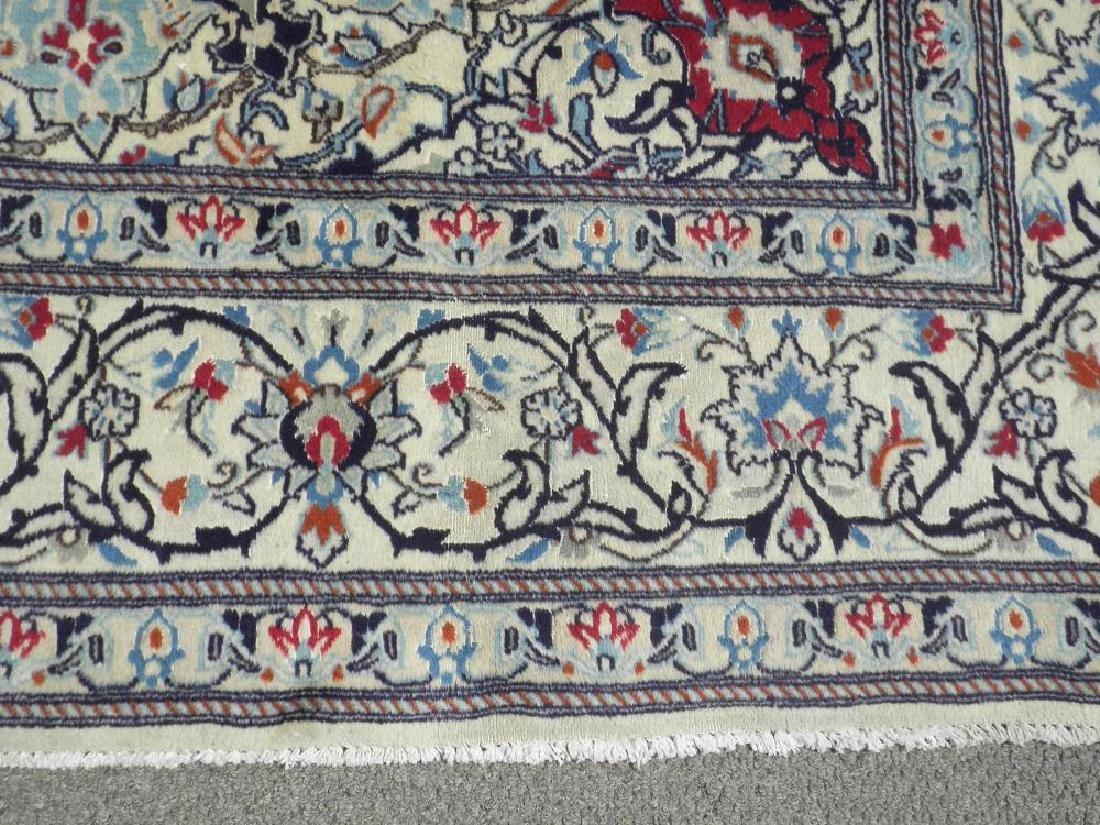 Authentic Semi Antique Wool/Silk Persian Nain 11.5x8.0 - 8