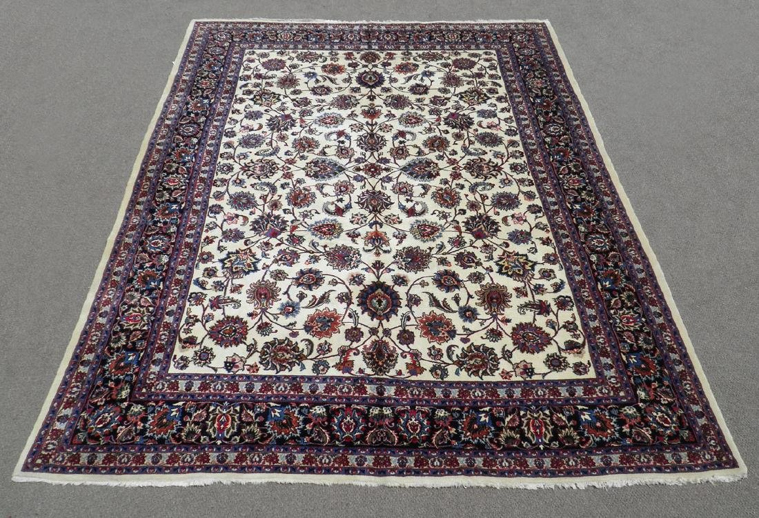 Unique Wool/Silk Allover Persian Tabriz 13.1x9.9