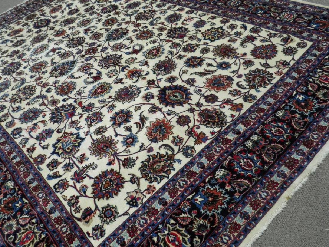 Unique Wool/Silk Allover Persian Tabriz 13.1x9.9 - 2