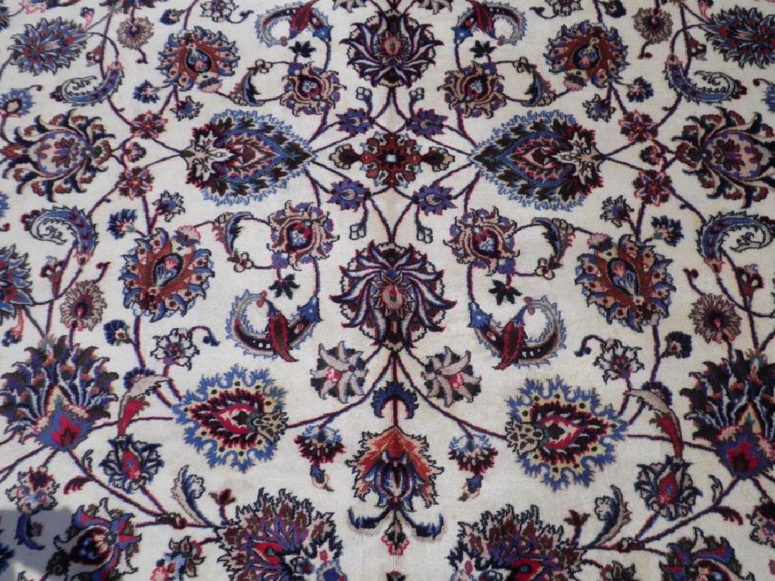 Unique Wool/Silk Allover Persian Tabriz 13.1x9.9 - 5