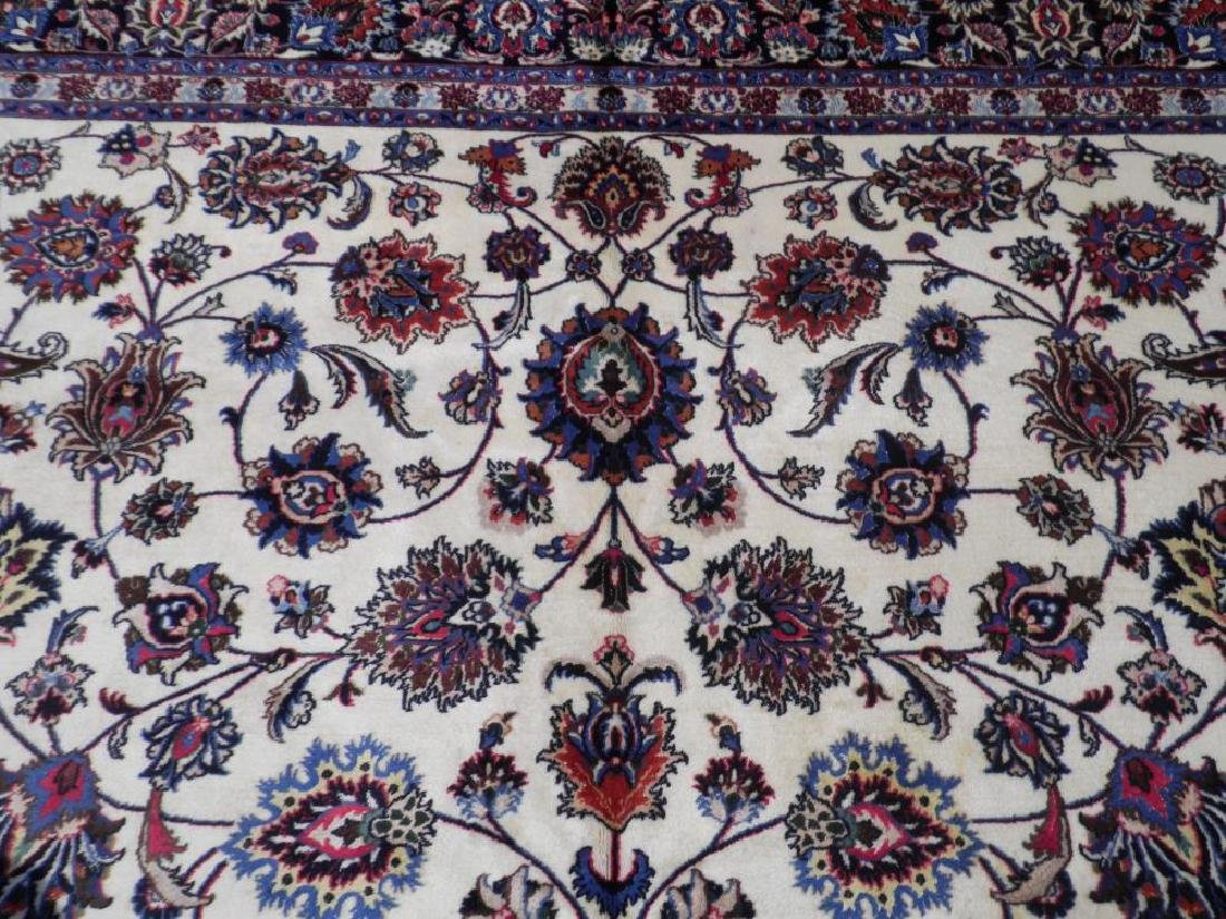 Unique Wool/Silk Allover Persian Tabriz 13.1x9.9 - 6
