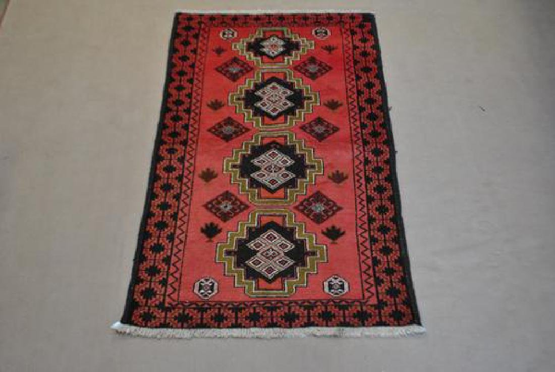 Nicely Contrasted 6' Persian Hamadan Runner
