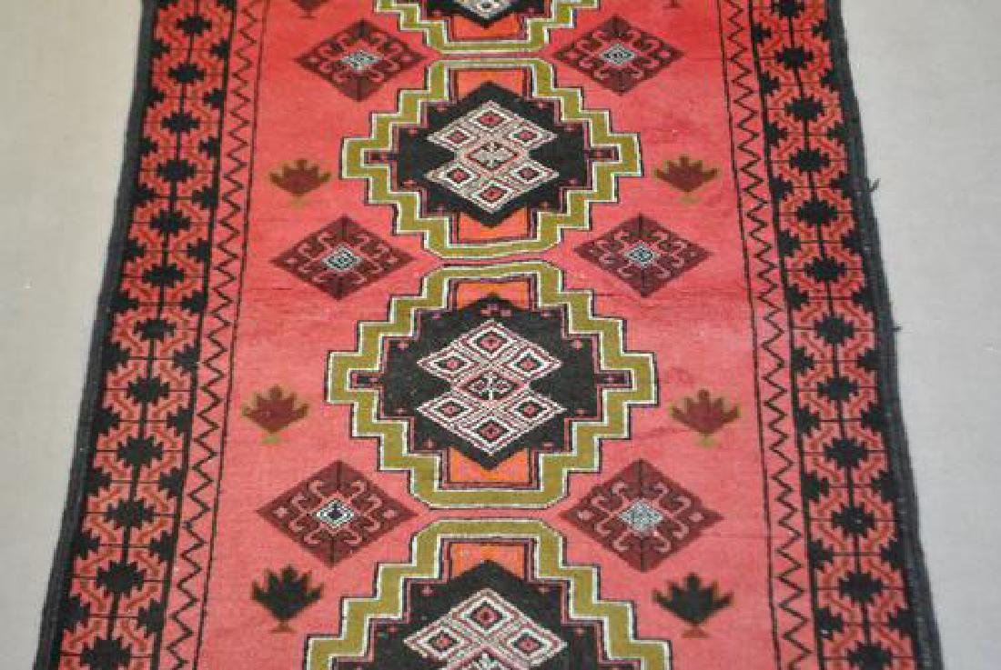 Nicely Contrasted 6' Persian Hamadan Runner - 2