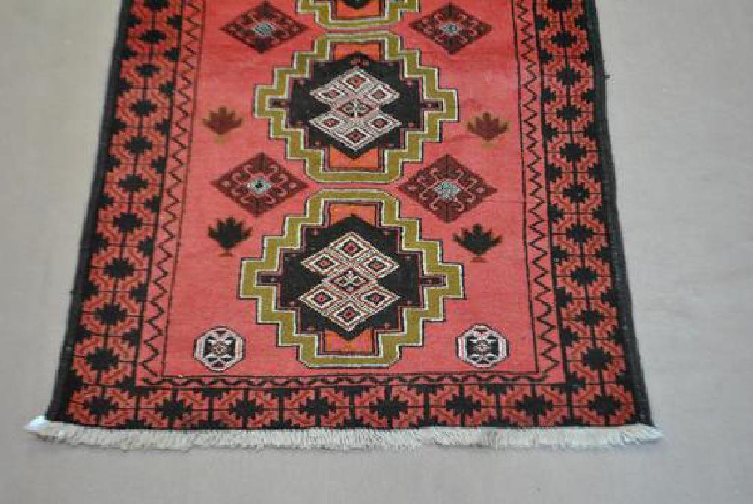 Nicely Contrasted 6' Persian Hamadan Runner - 3