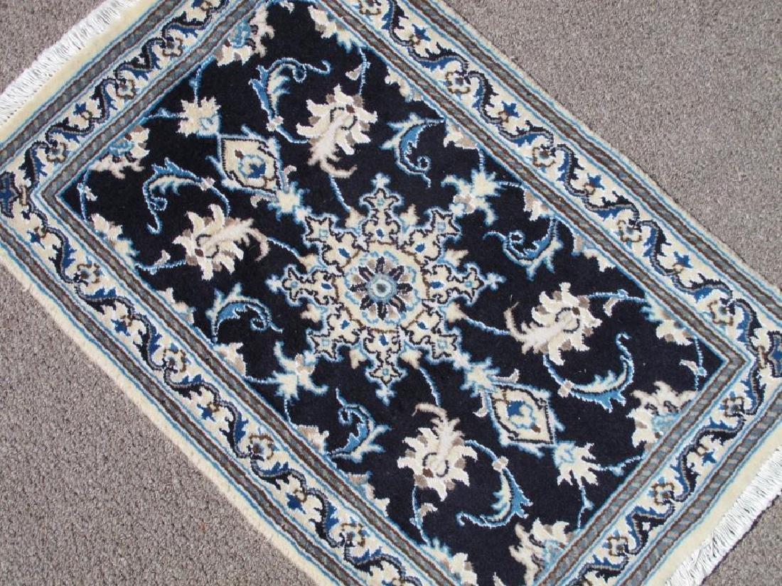 Stunning Authentic Wool/Silk Persian Nain 2.11x1.11 - 2
