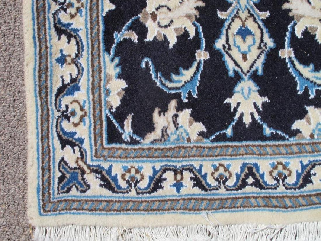 Stunning Authentic Wool/Silk Persian Nain 2.11x1.11 - 3