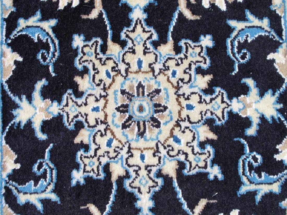 Stunning Authentic Wool/Silk Persian Nain 2.11x1.11 - 4
