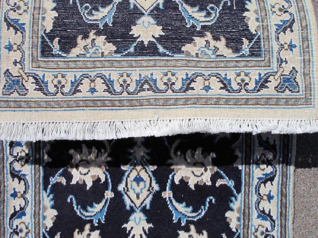 Stunning Authentic Wool/Silk Persian Nain 2.11x1.11 - 5
