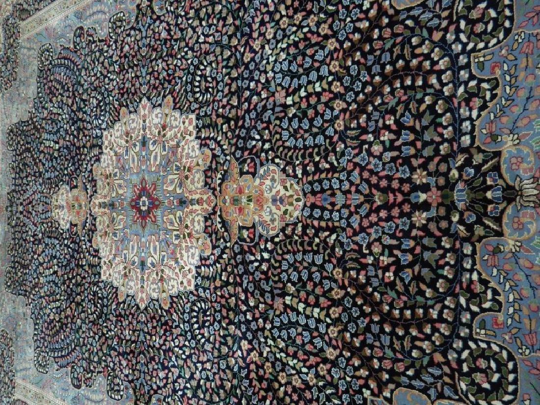 Elegant Handmade Floral Kerman Berkana 10x14 - 3