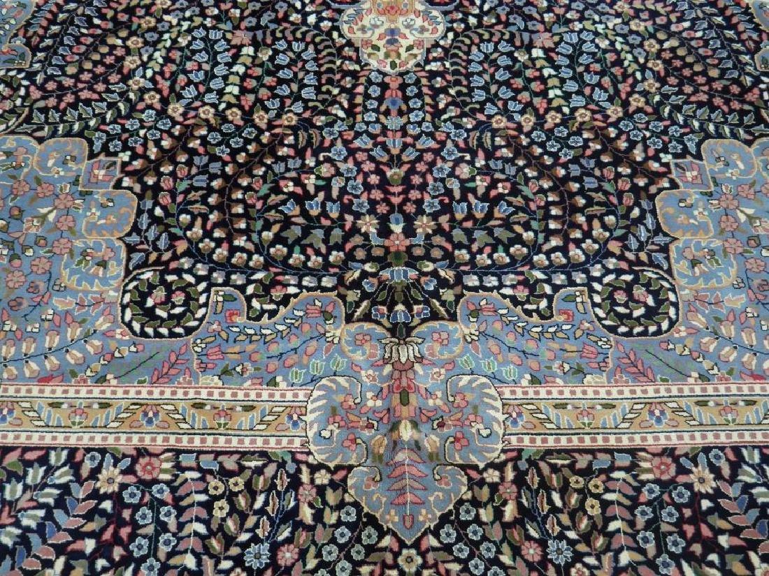 Elegant Handmade Floral Kerman Berkana 10x14 - 4