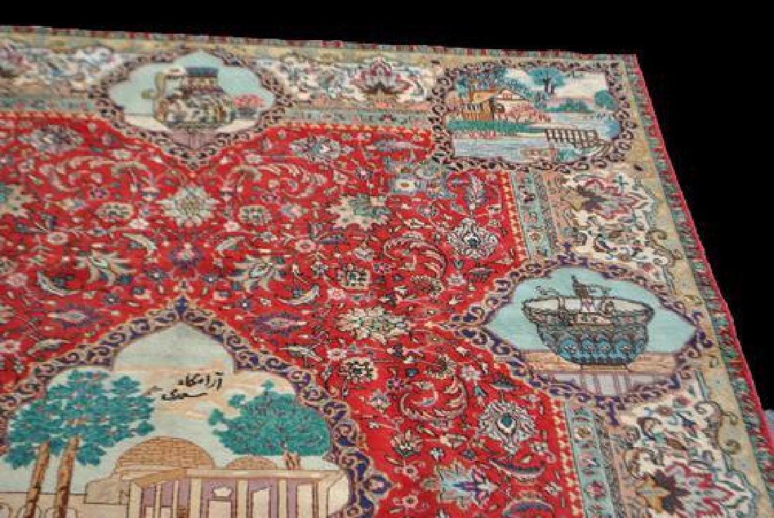 Rare Tribute to Saadi Semi Antique Persian Tabriz - 3