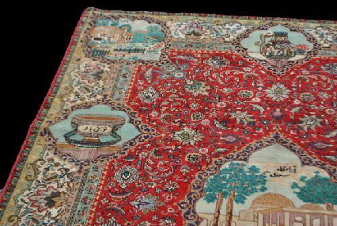Rare Tribute to Saadi Semi Antique Persian Tabriz - 4
