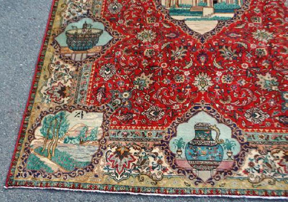 Rare Tribute to Saadi Semi Antique Persian Tabriz - 5
