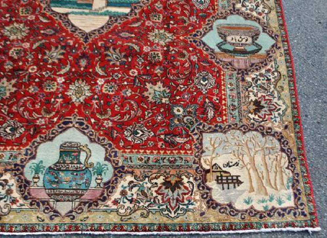 Rare Tribute to Saadi Semi Antique Persian Tabriz - 6
