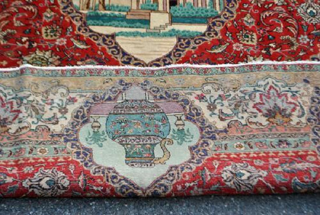 Rare Tribute to Saadi Semi Antique Persian Tabriz - 7