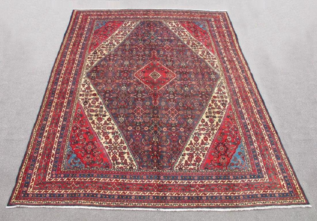 Simply Gorgeous Semi Antique Persian Hosseinabad Rug