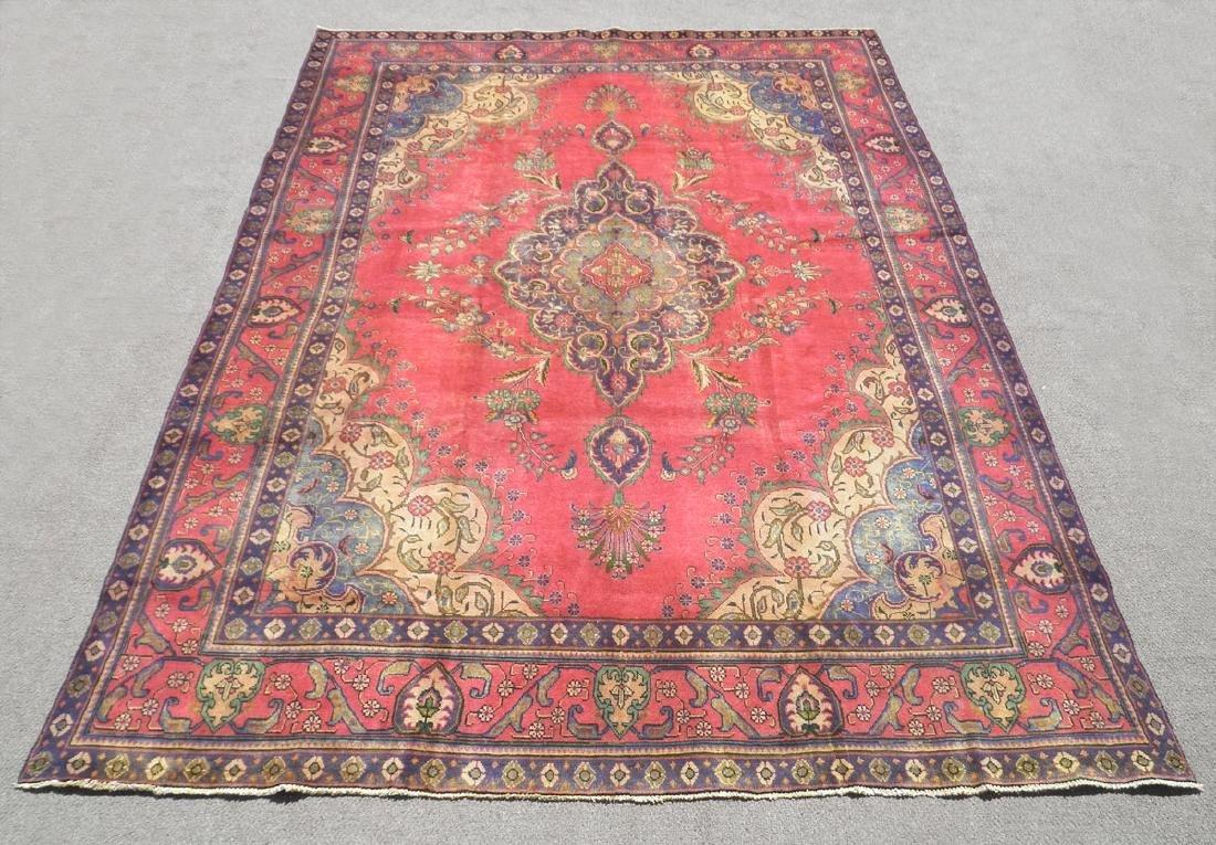 Hand Woven Semi Antique Persian Tabriz 12.4x9.5