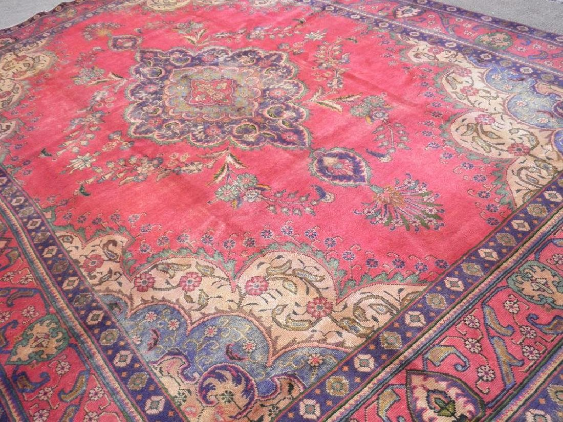 Hand Woven Semi Antique Persian Tabriz 12.4x9.5 - 2