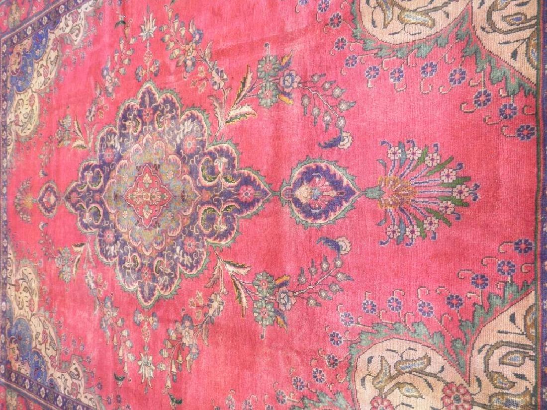 Hand Woven Semi Antique Persian Tabriz 12.4x9.5 - 3