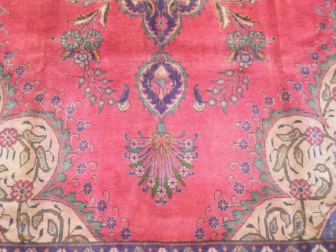 Hand Woven Semi Antique Persian Tabriz 12.4x9.5 - 4