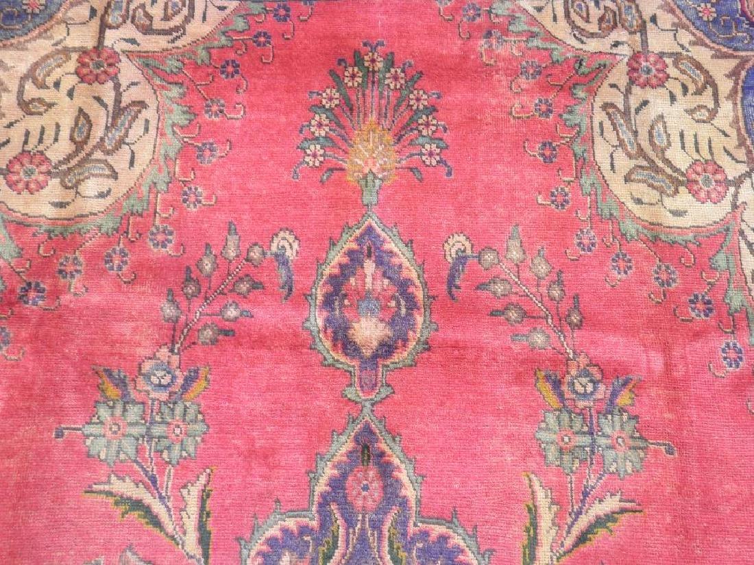 Hand Woven Semi Antique Persian Tabriz 12.4x9.5 - 6