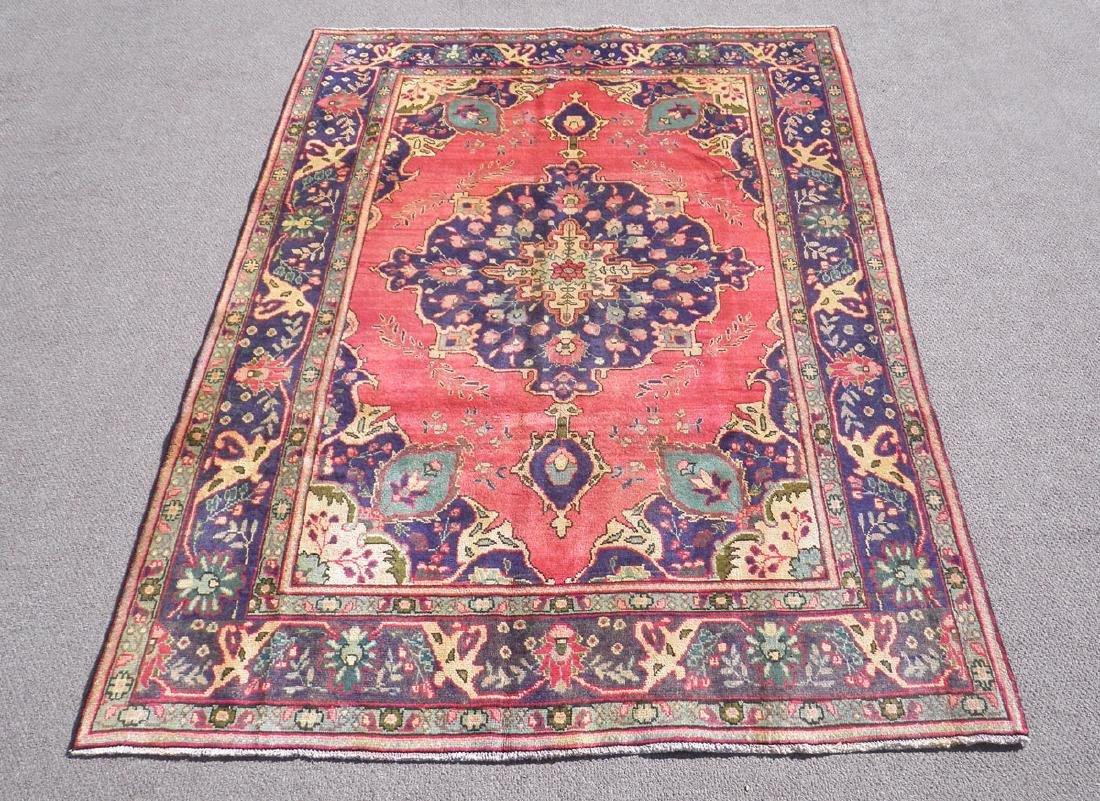 Breathtaking Semi Antique Persian Tabriz 9.5x6.6