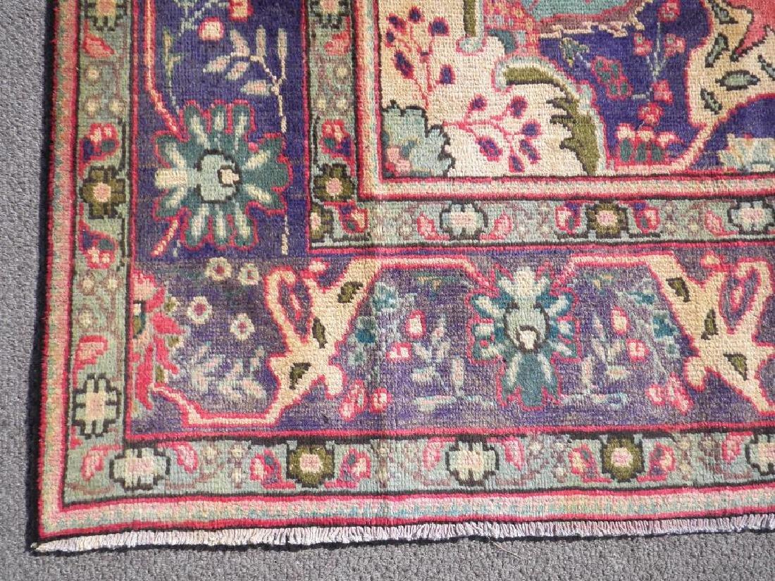 Breathtaking Semi Antique Persian Tabriz 9.5x6.6 - 5