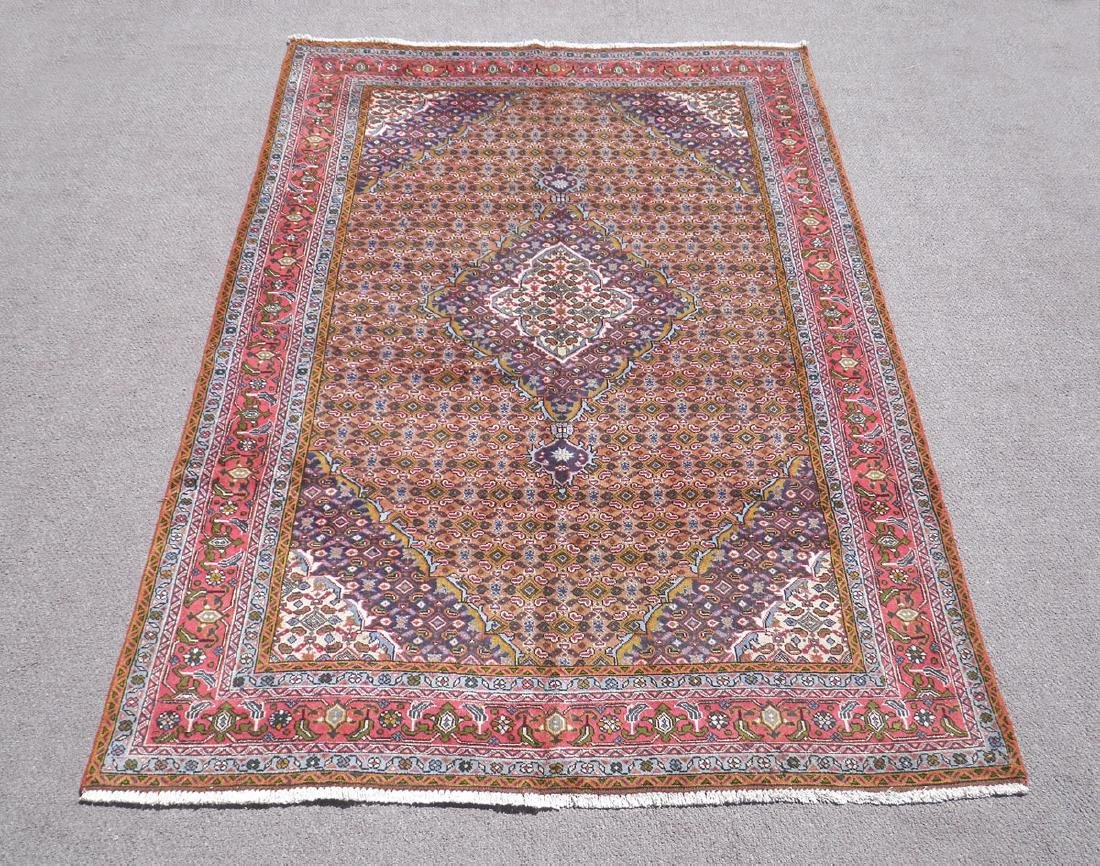 Semi Antique Persian Tabriz Mahi (Fish) Design 9.8x6.6