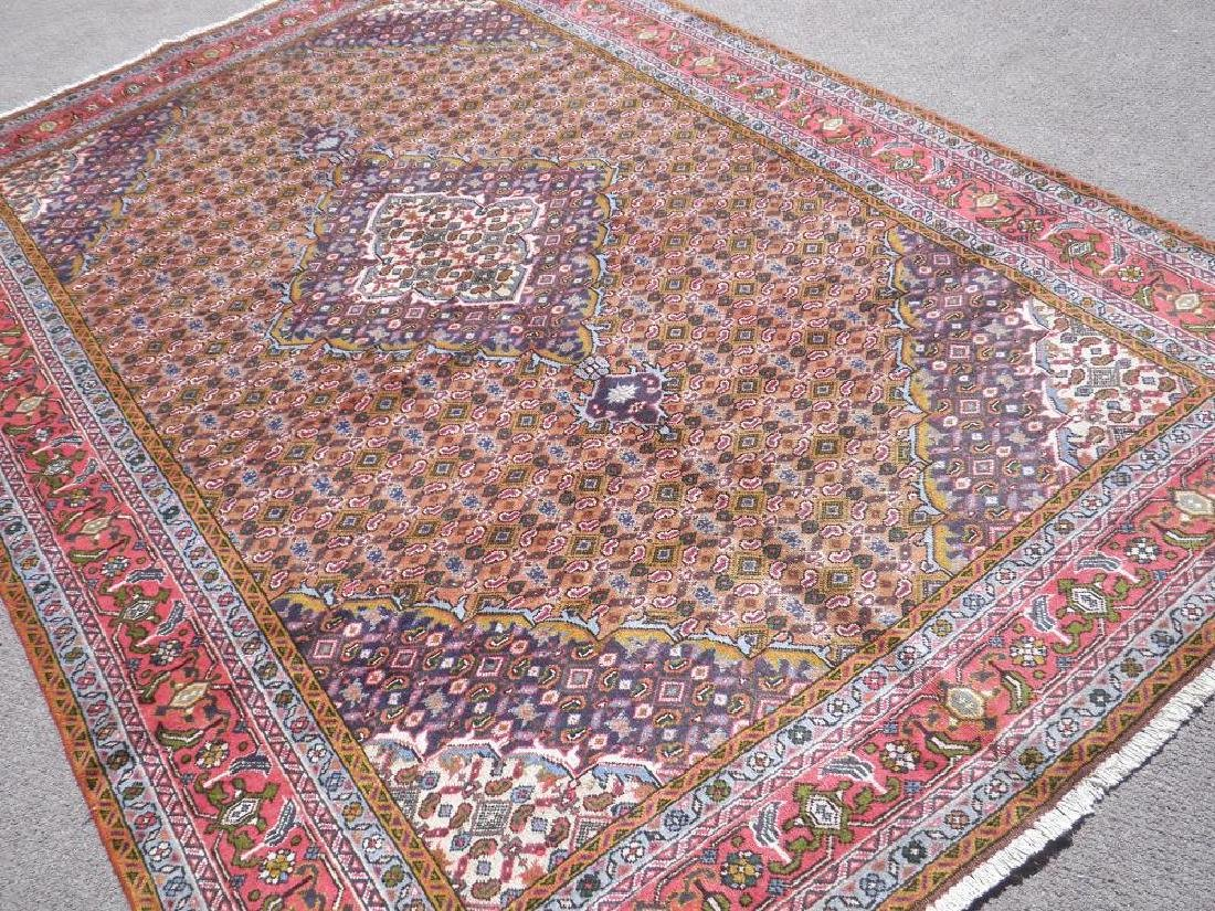 Semi Antique Persian Tabriz Mahi (Fish) Design 9.8x6.6 - 2